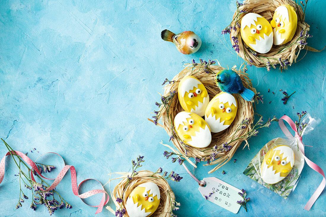 Funny Easter chicks