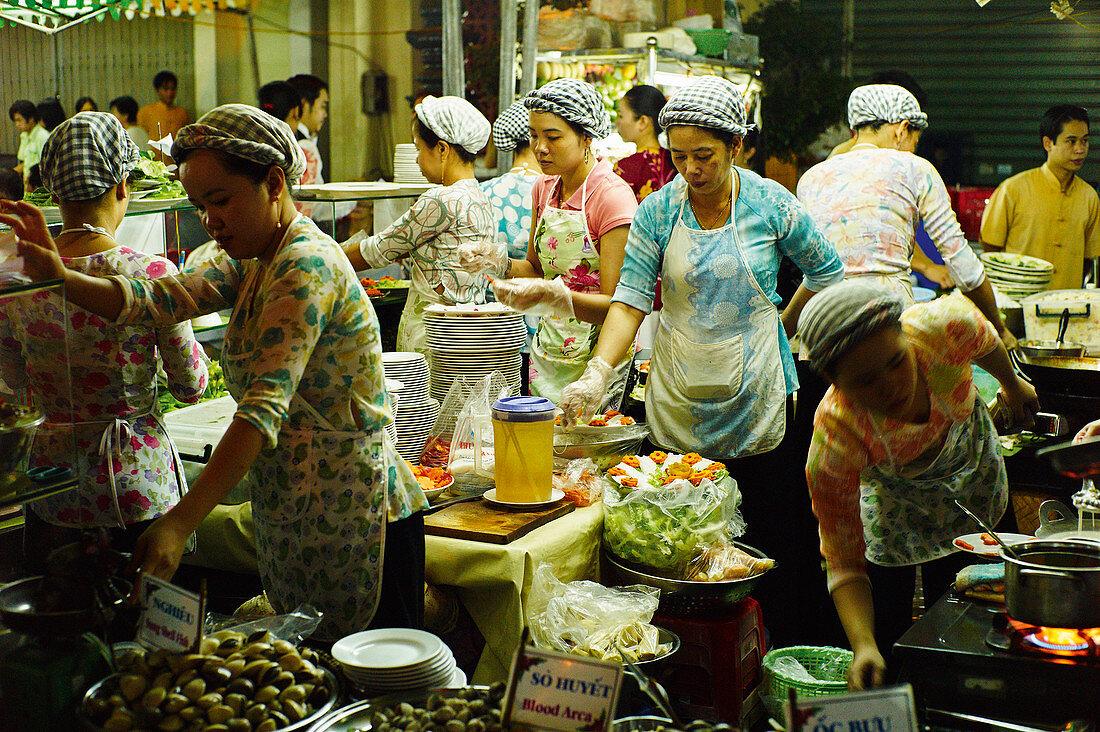 Oriental street food market