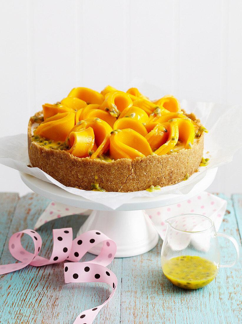Mango and Coconut Cheesecake