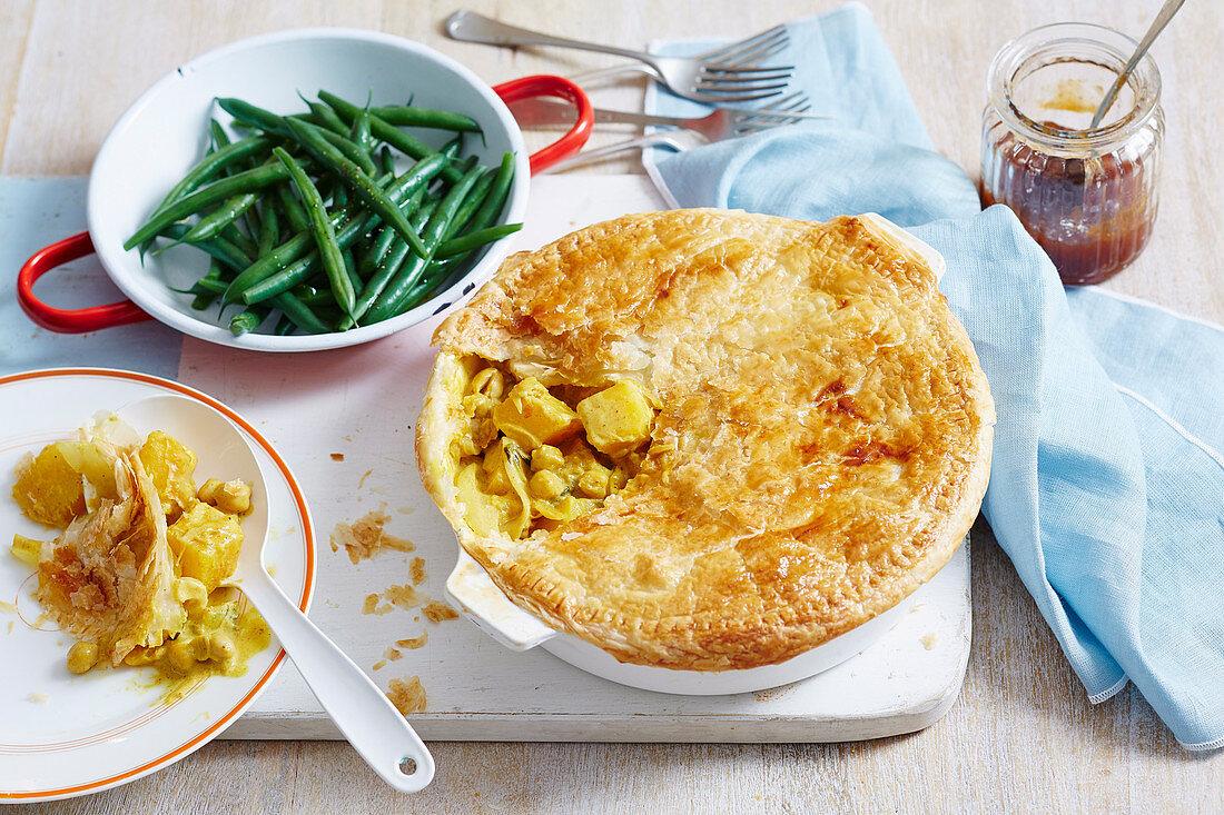 Half-Jar Curry Paste Chickpea and Pumpkin Pie