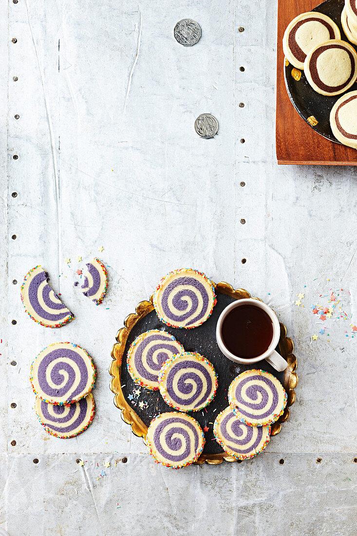 Rainbow swirl slice and bake cookies