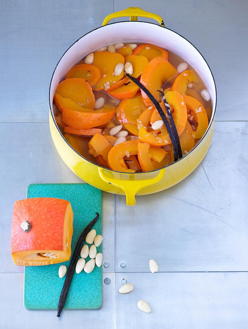 Russian vanilla pumpkin with almonds