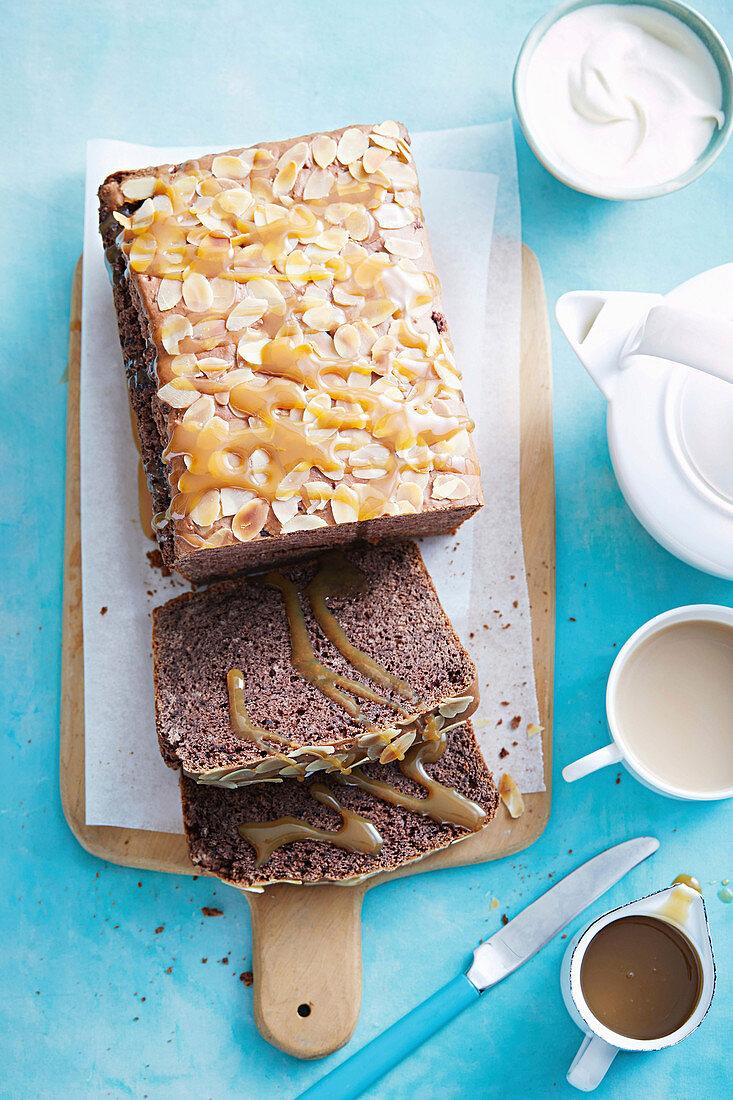 Take 5: Ice cream cake with chocolate chip ice cream, almonds and caramel