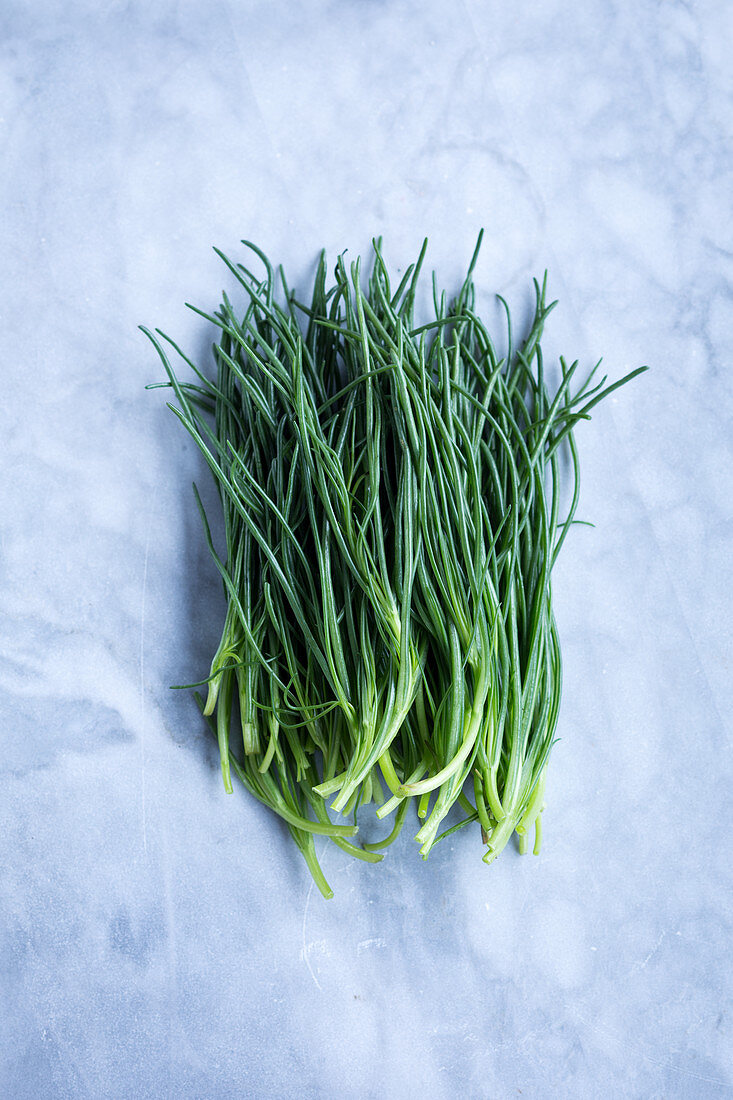 Barba di Frate or 'Monk's Beard' (Mediterranean spring vegetables)