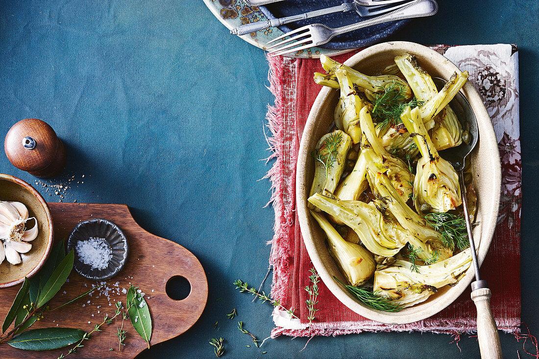 Italian herb and garlic fennel