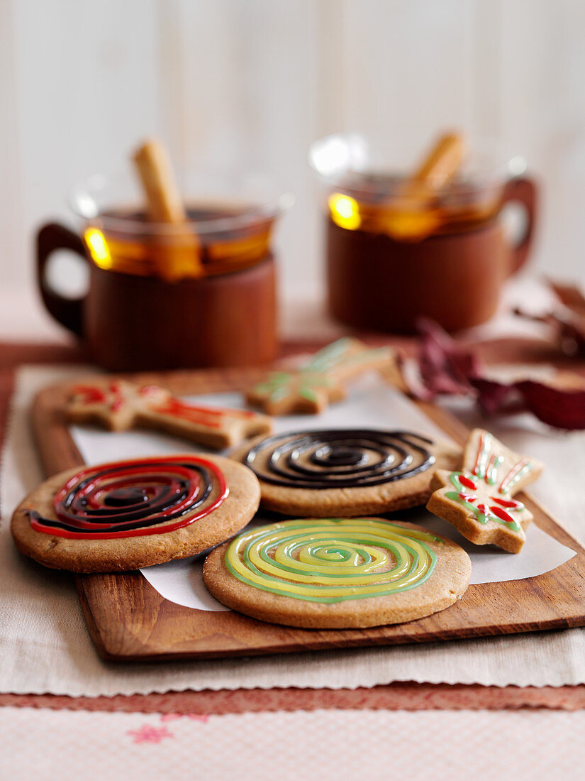 Bonfire biscuits served with tea (England)
