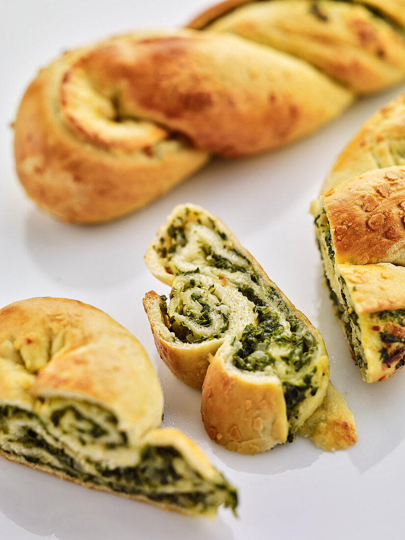 Bread with a chard filling