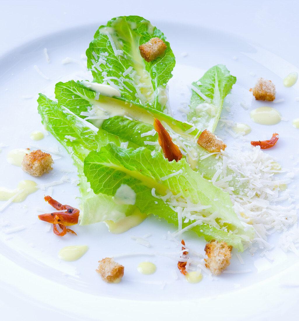 Caesar salad (close-up)