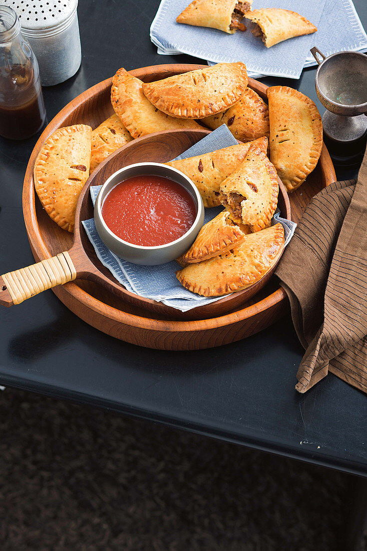 Chunky beef and sarsaparilla hand pies