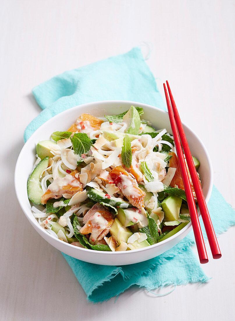 Asian Family Favourites - Smoked Salmon and Avocado Salad