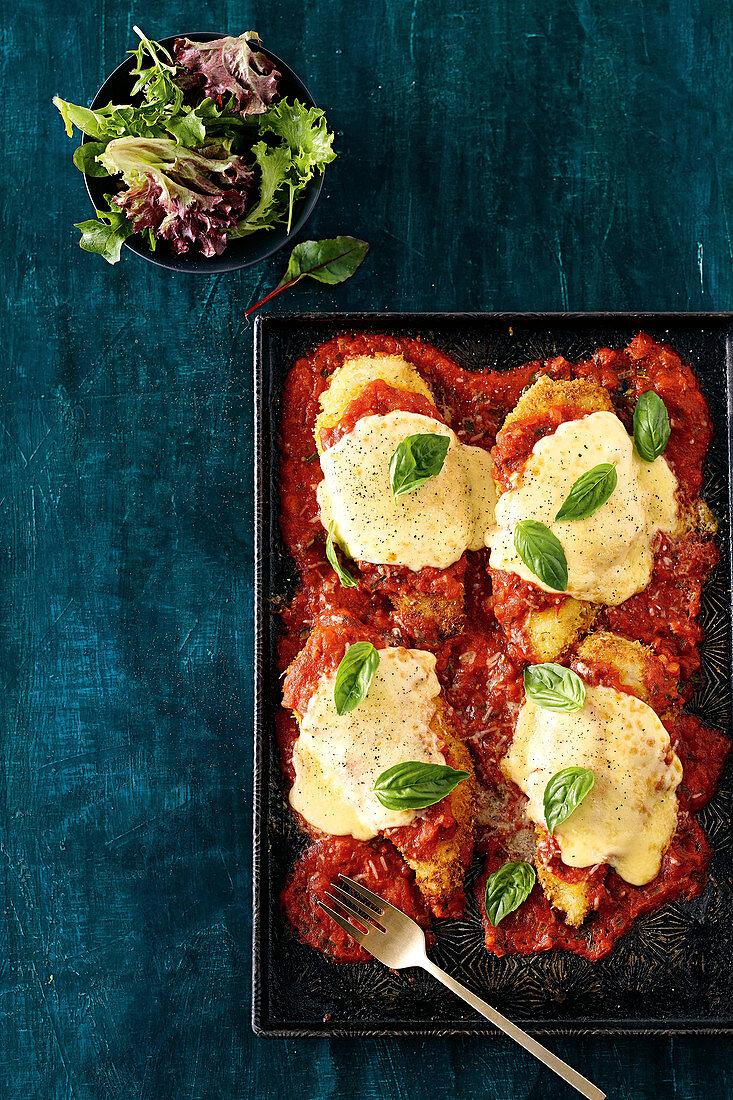 Easy chicken parmigiana