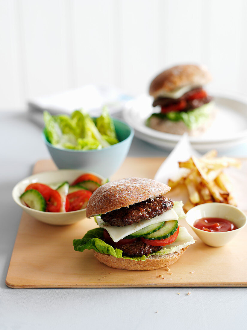 Burgers with Chips