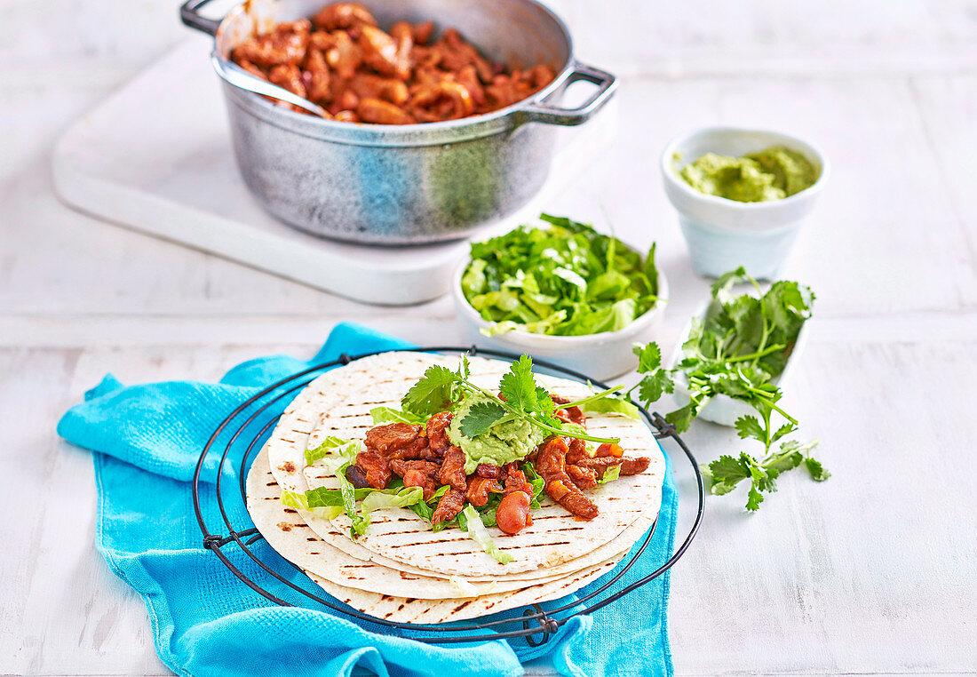 Mexican Bean Fajitas