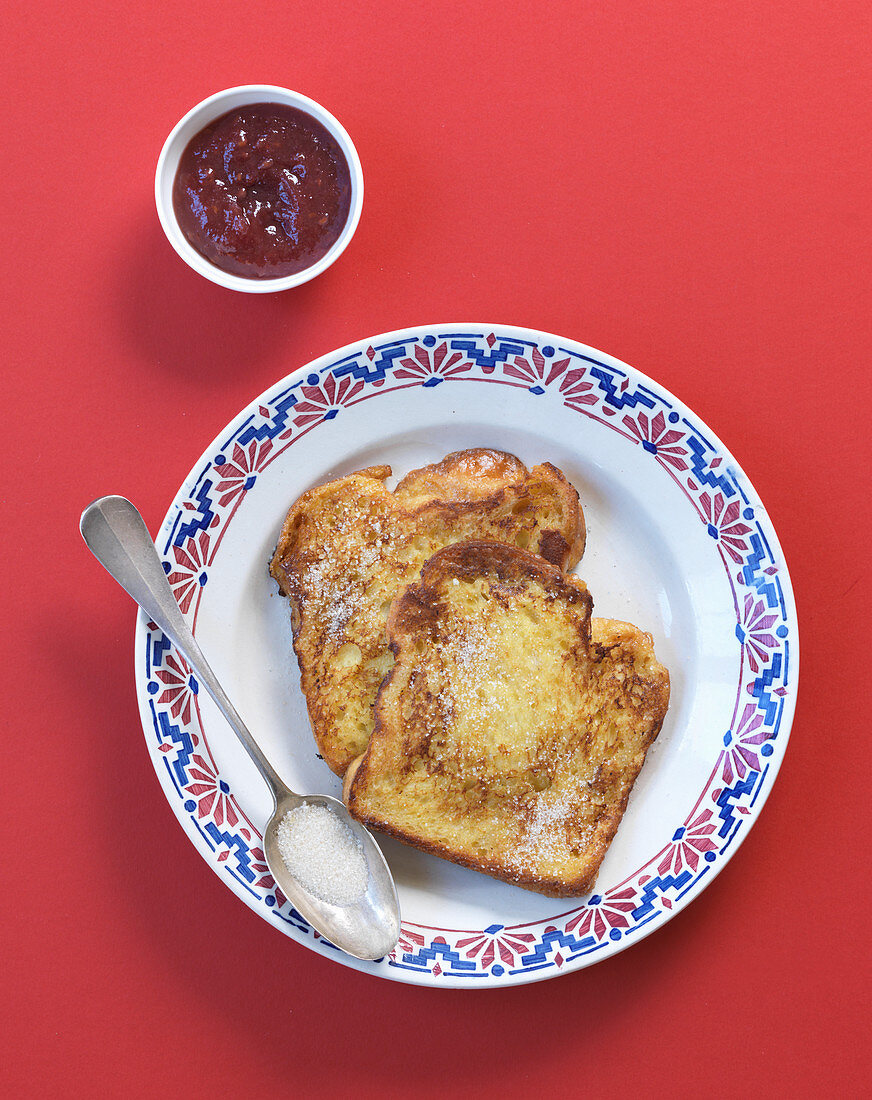 French Toast mit Marmelade
