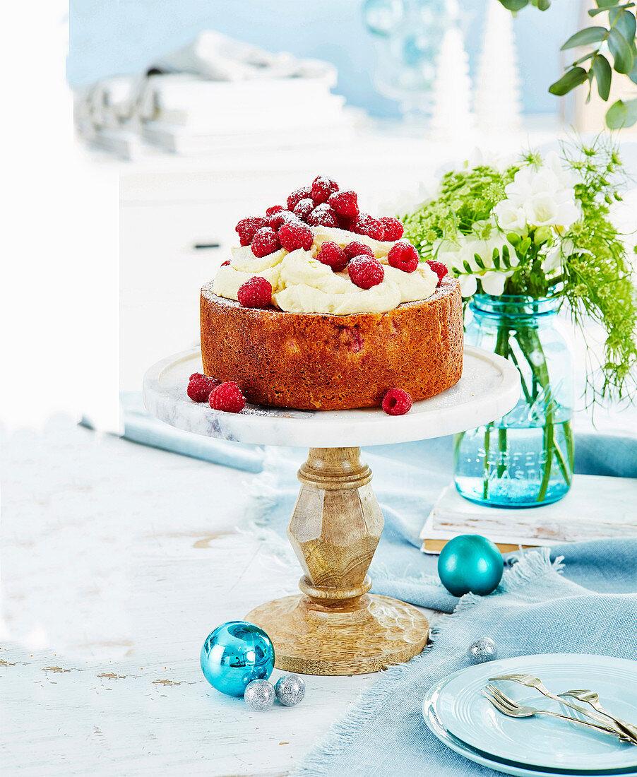 Coconut and raspberry cake