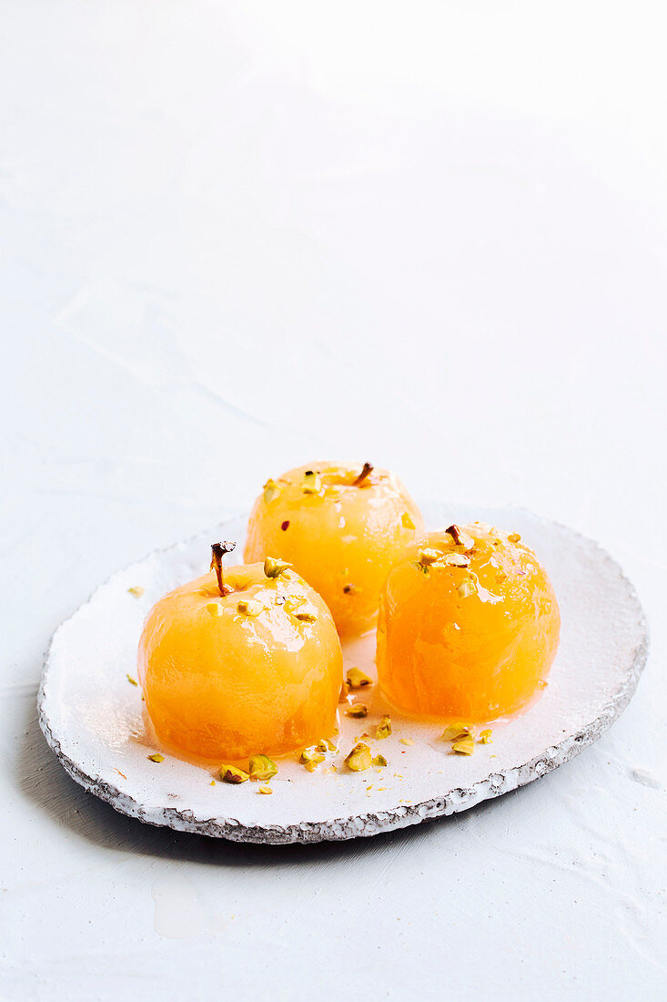 Spiced rosewater apples