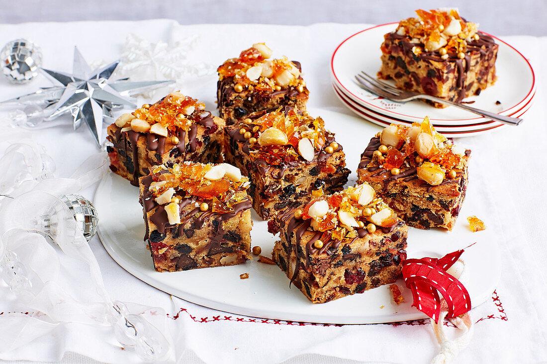 Christmas with Woman s Day - Take One Christmas Fruit Cake Mix.. - Orange & Dark Chocolate Christmas Slice