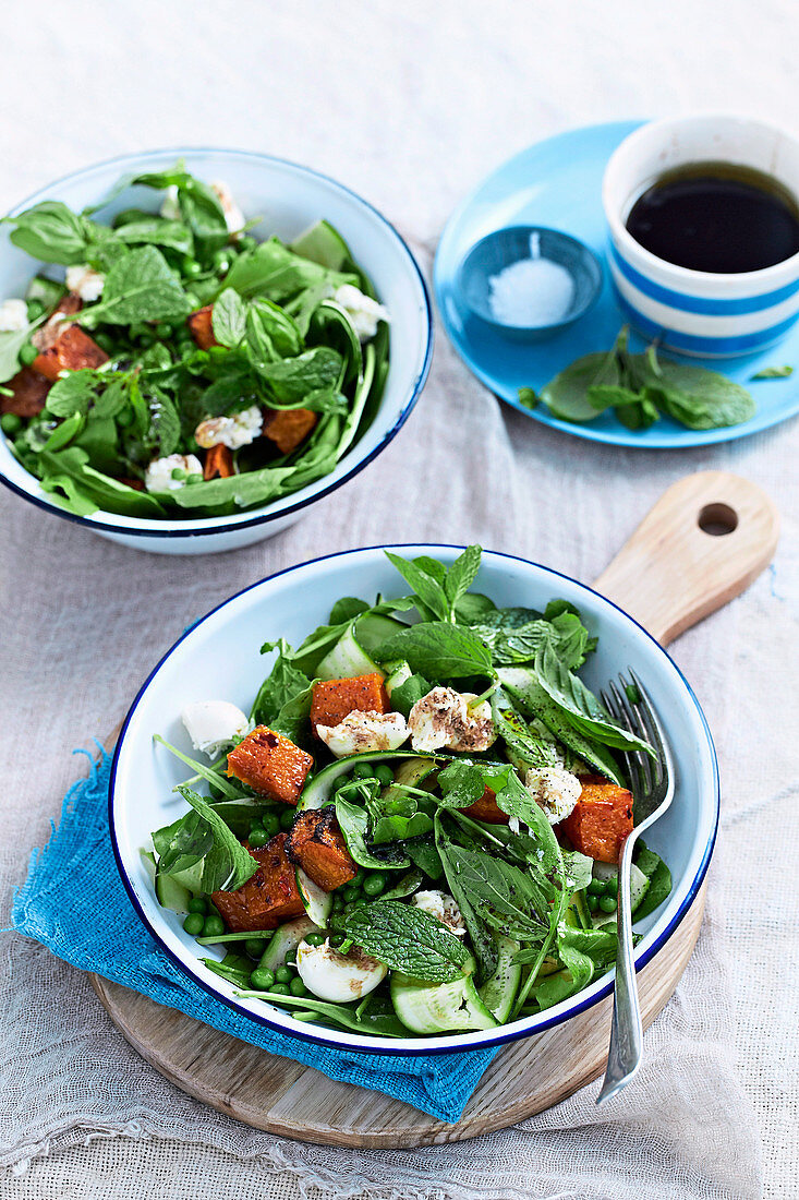 Warm Roasted Pumpkin and Zucchini Salad