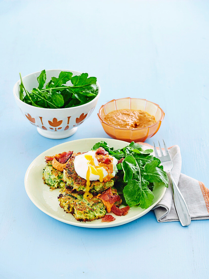 Zucchini and butterbean fritters