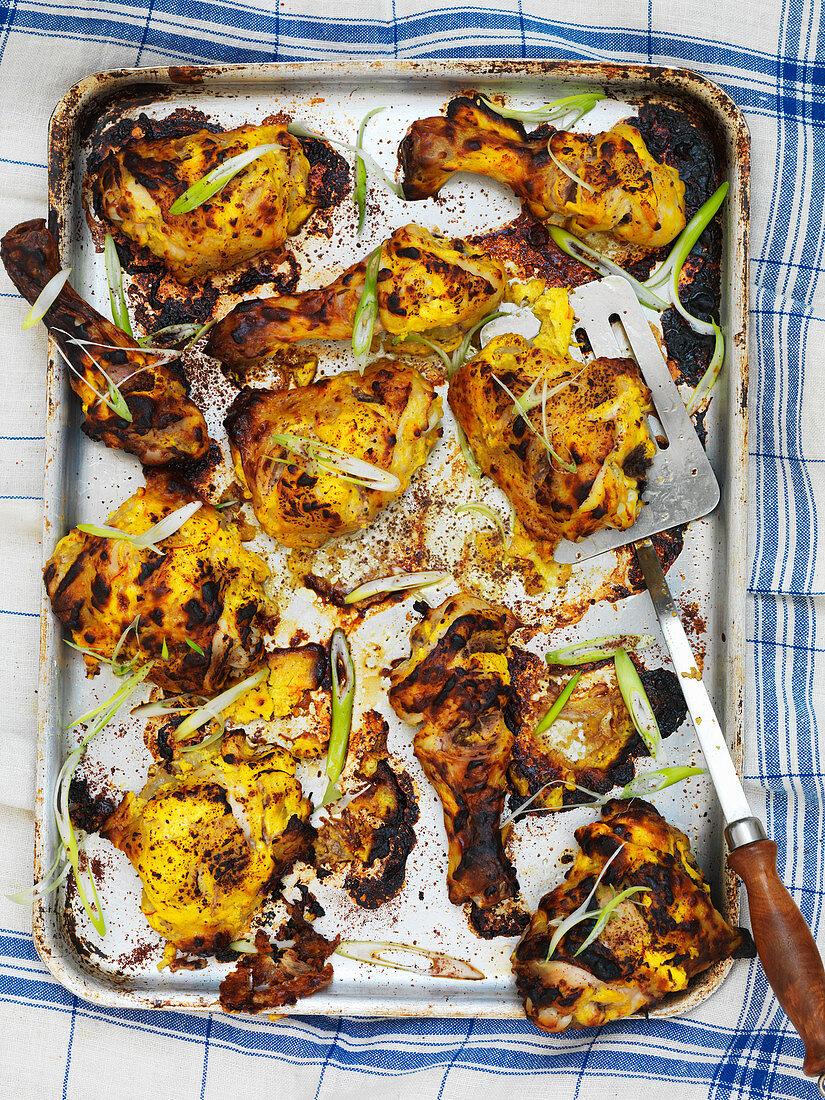 Grilled Persian saffron chicken
