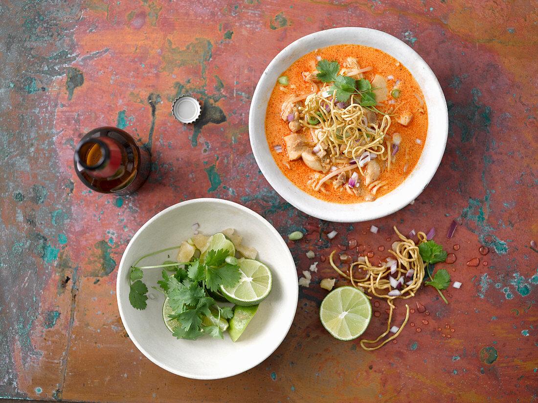 Khao Soi (chicken noodle soup, Thailand)