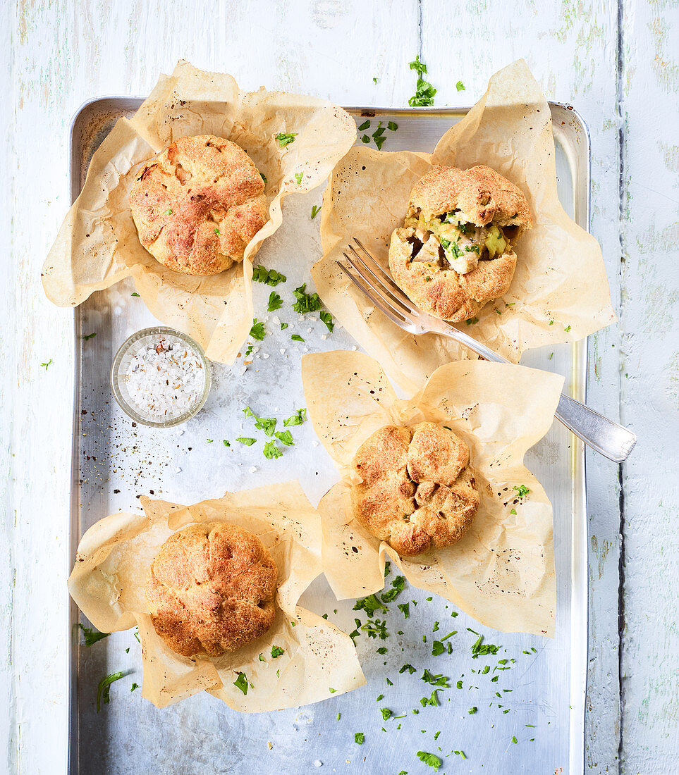Mini chicken and celery pies