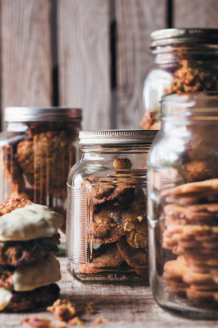 Cookies in storage jars