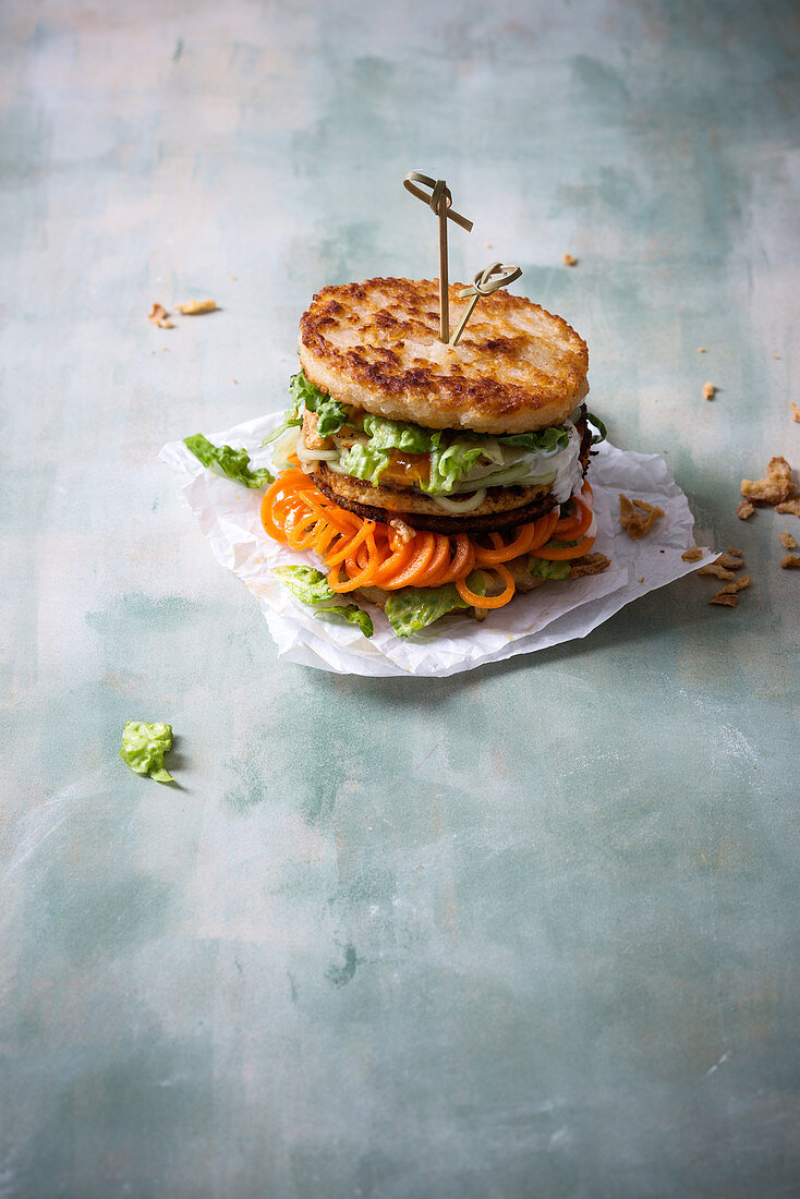 An Asian Style Burger With Tofu Grilled License Images 12458494 Stockfood