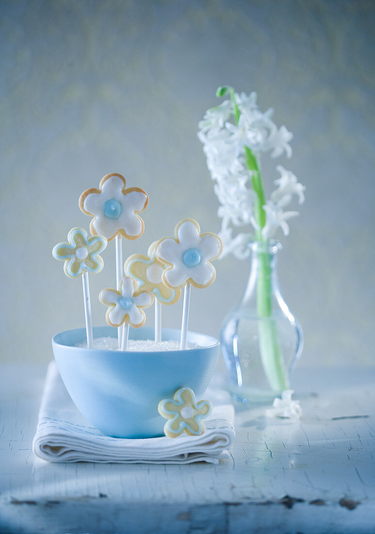 Flower Cookies on a stick