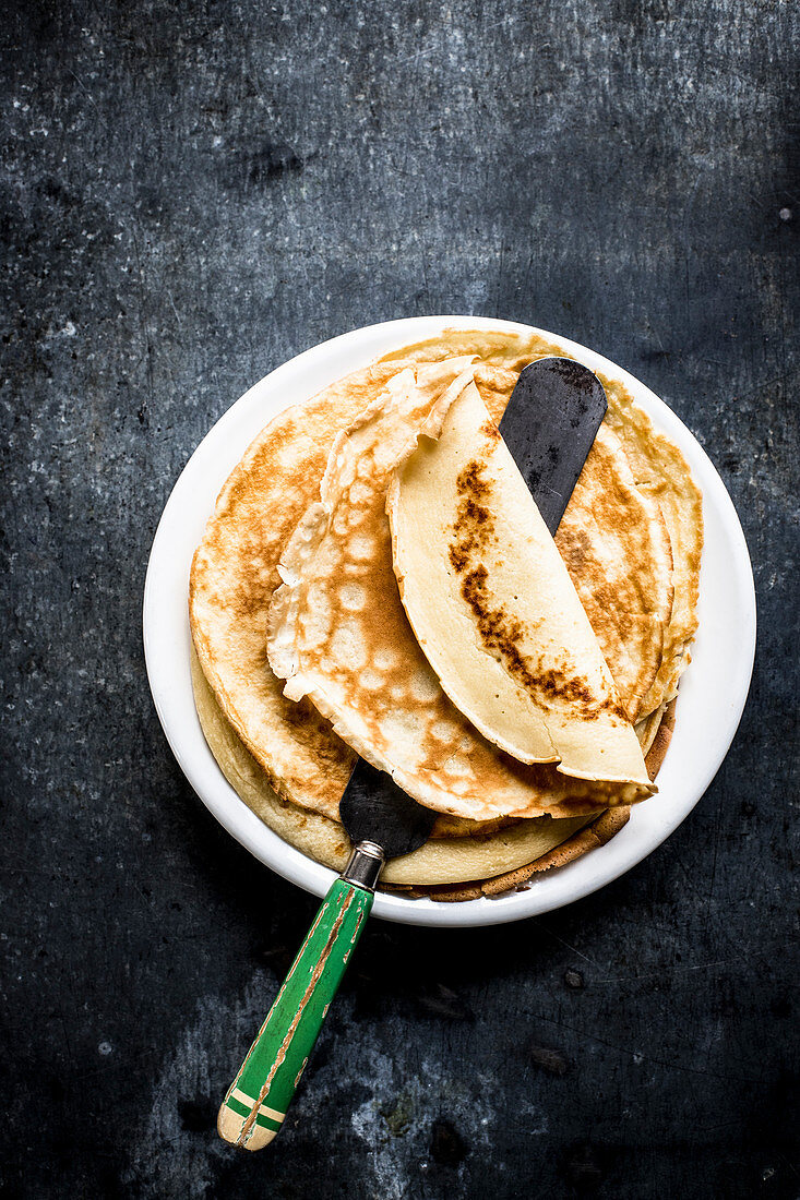 A plate of pancakes