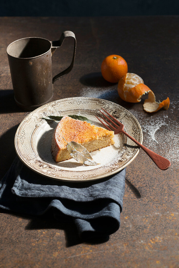 Clementine Sponge Cake with chestnuts