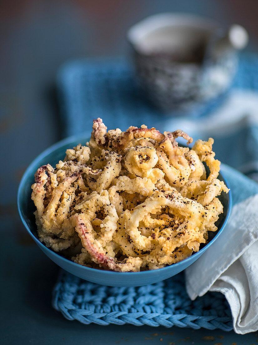 Fried calamari with Szechuan pepper