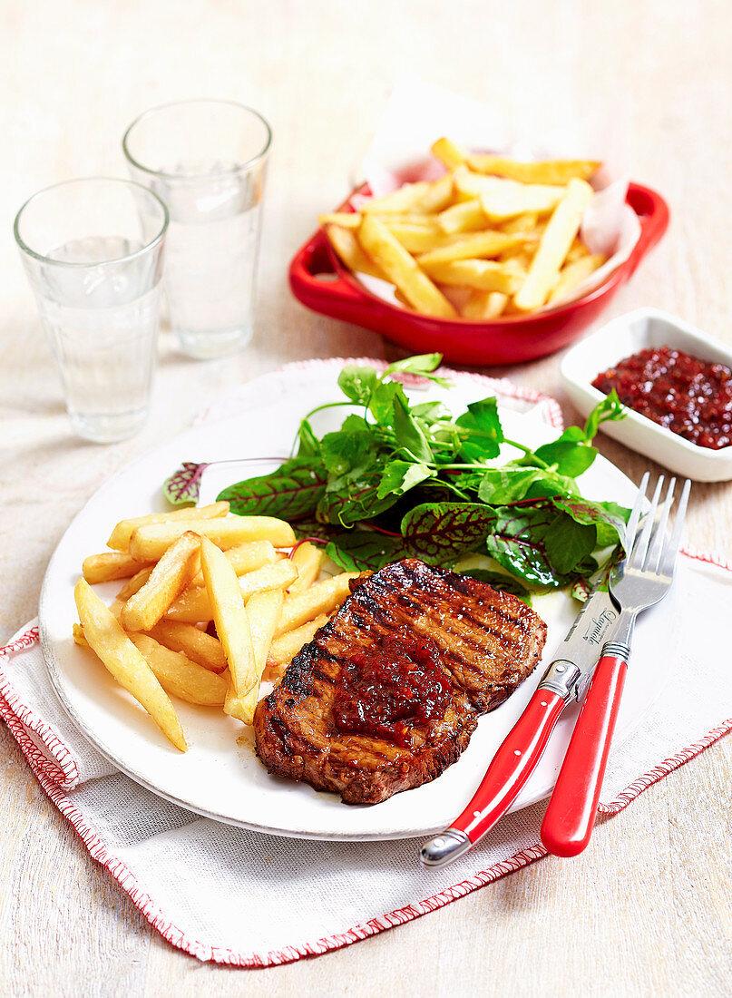 Steak with Chilli Jam