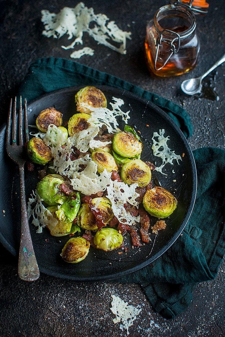 Rosenkohl mit Bacon und Parmesan