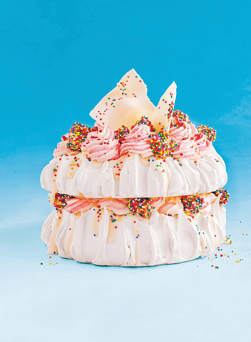 Fairy bread Pavlova