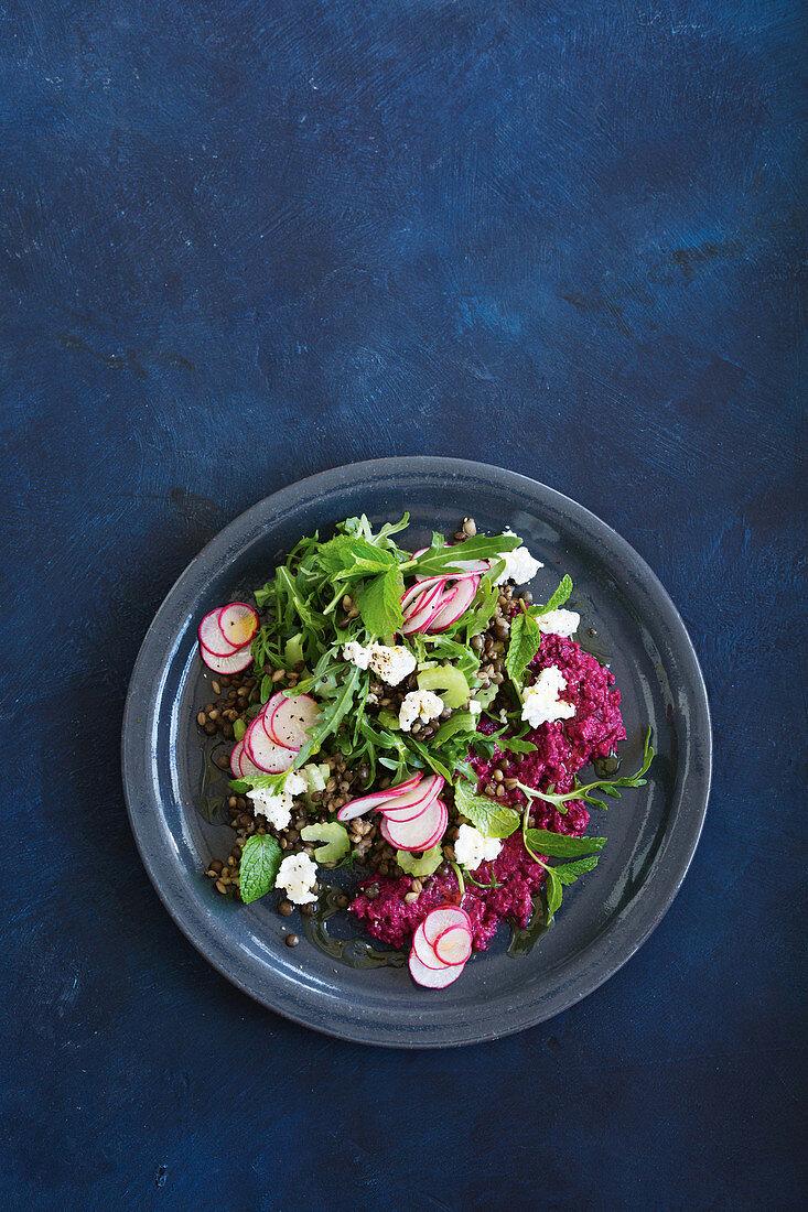 Slow-cooker lentil and barley salad