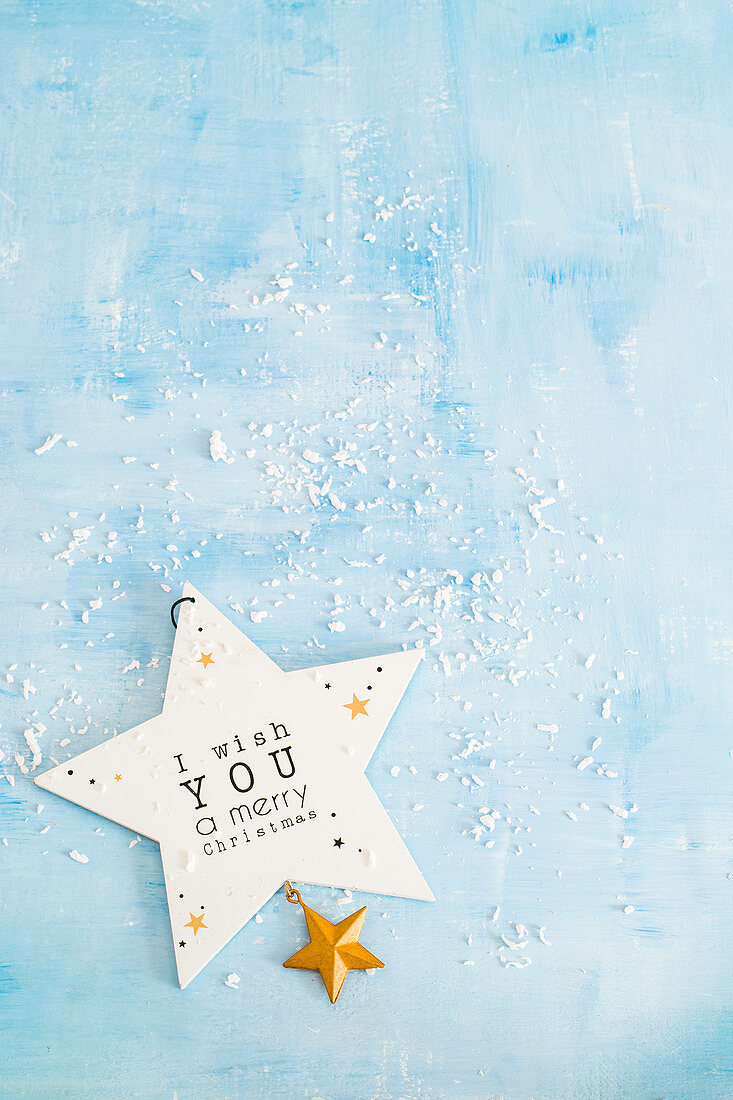 A star hanger with writing