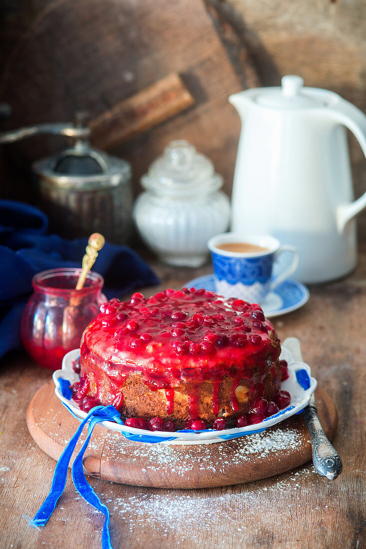 Cranberry sauce cheesecake