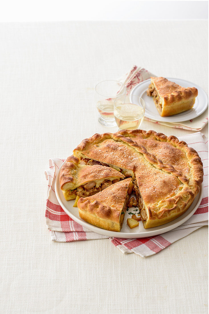 Lamb pie with cheese (Italy)