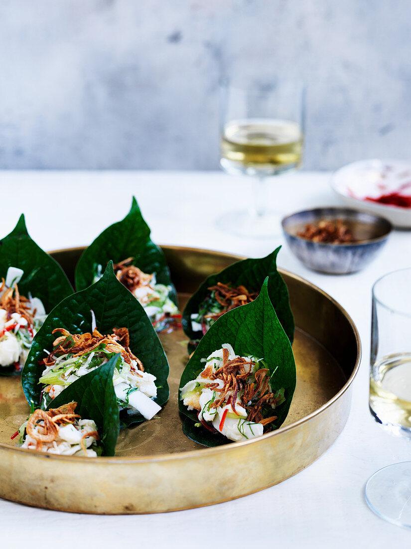 Coconut crab and green mango salad (1990s)