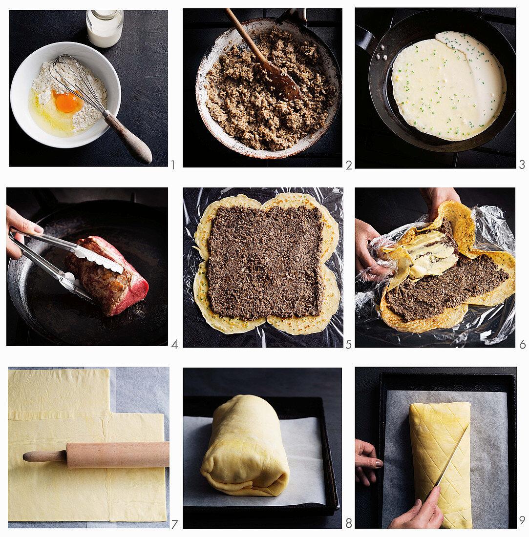 Preparing Beef Wellington