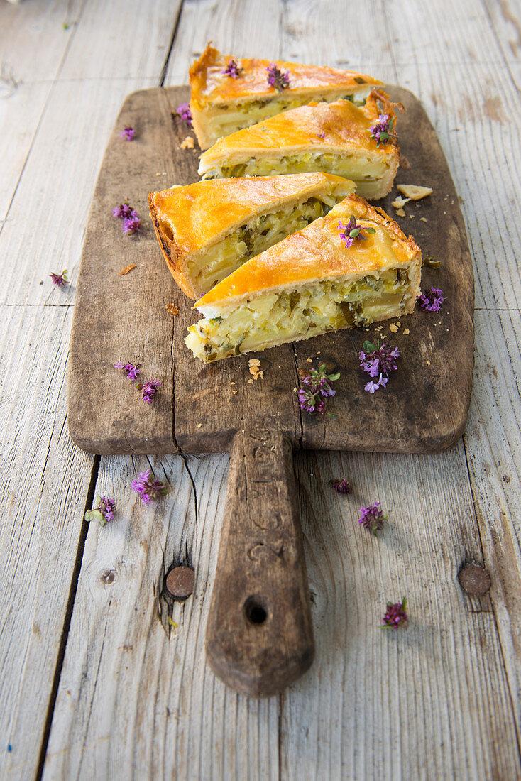 Potato cake from the canton of Valais
