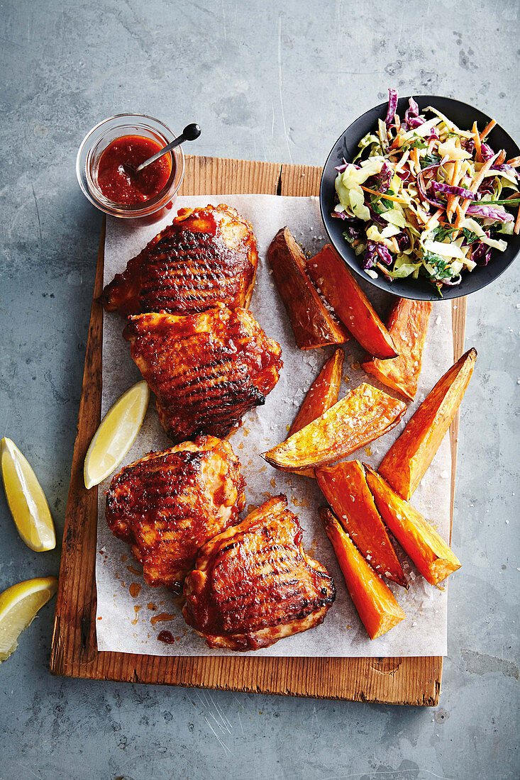 Sticky barbecue chicken cutlets
