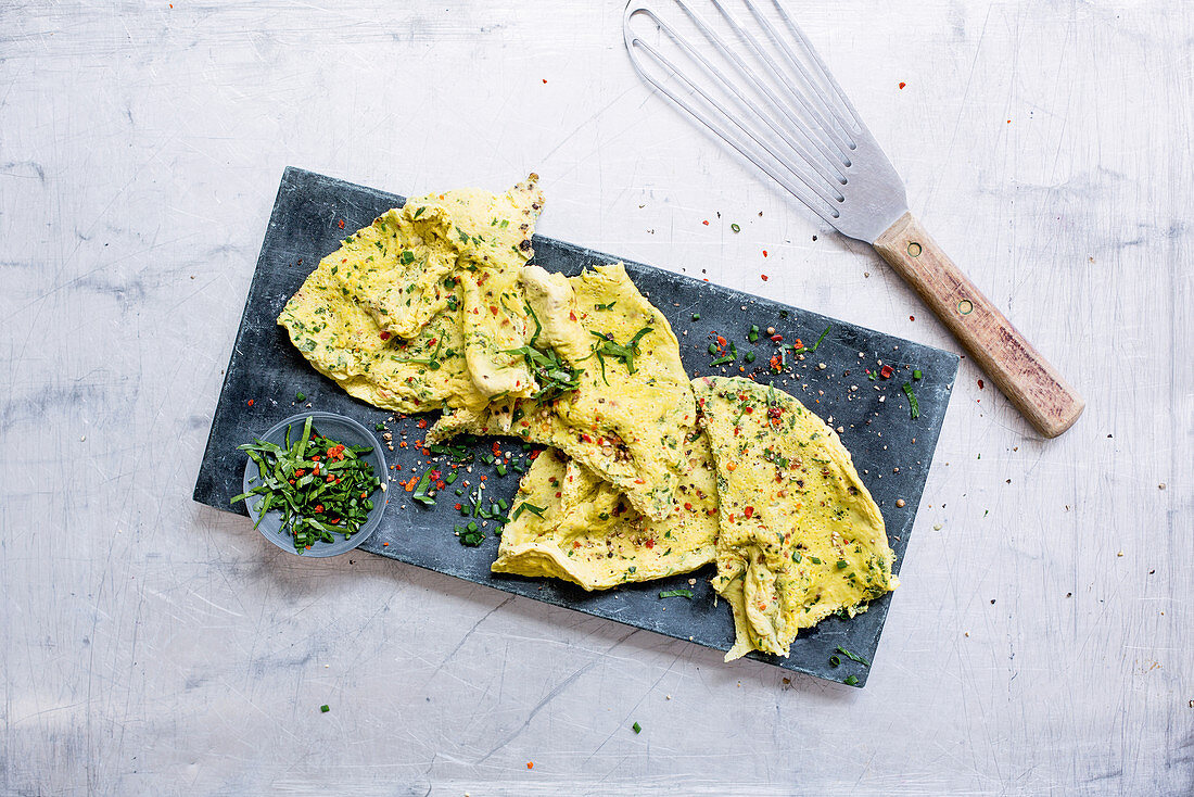 Herb omelette with chilli (low GL)