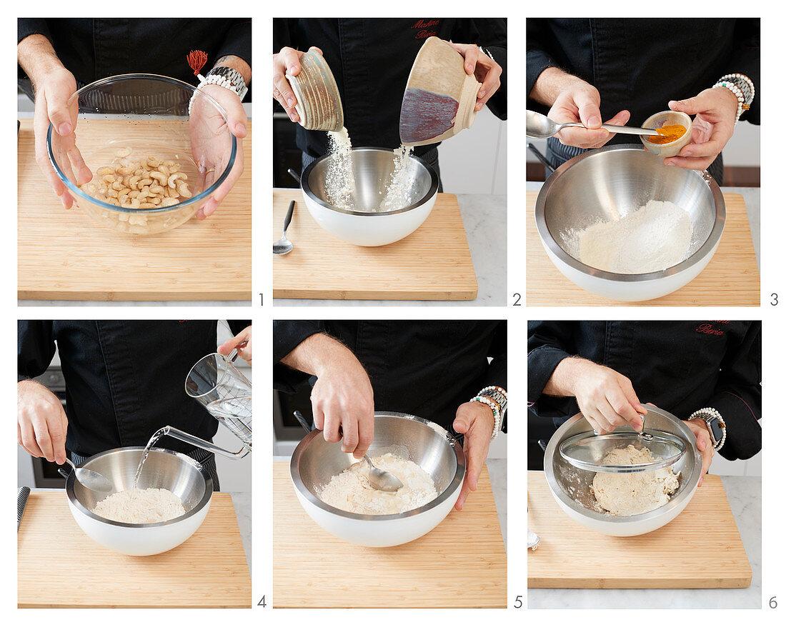 Ravioli dough being made
