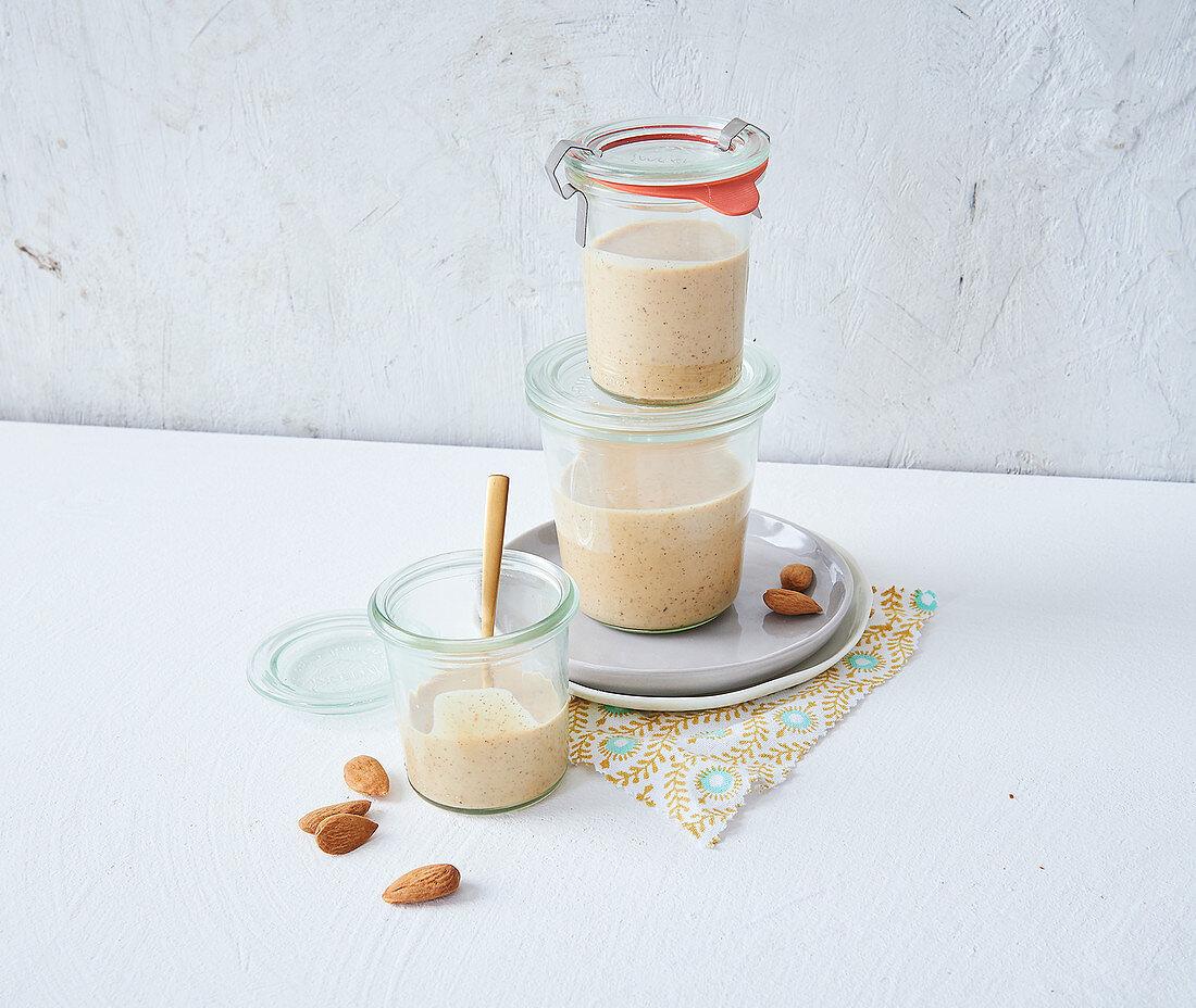 Homemade, sugar-free vegan almond mousse