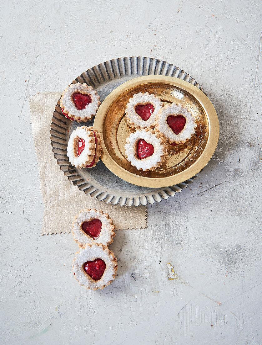 Sugar-free vegan jam sandwich biscuits