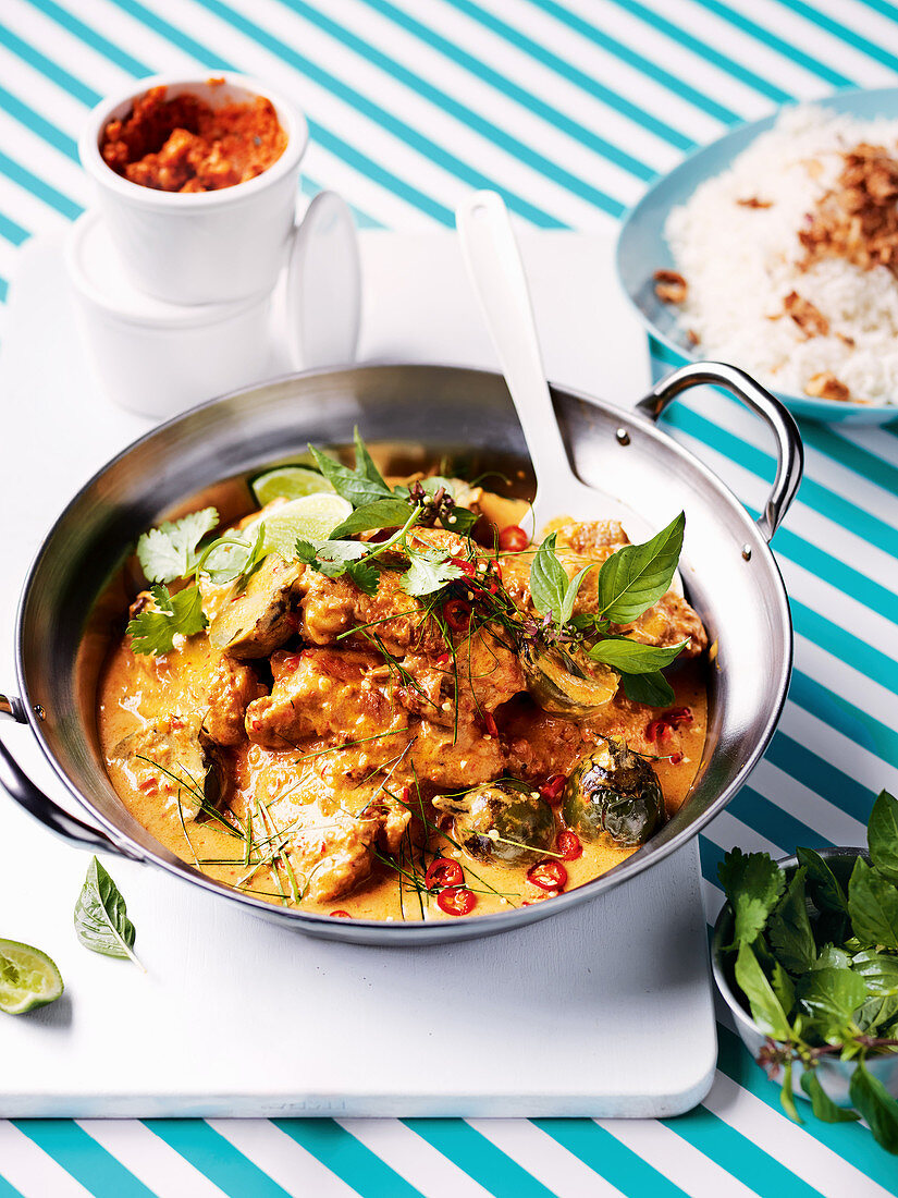 Thai chicken and eggplant yellow curry