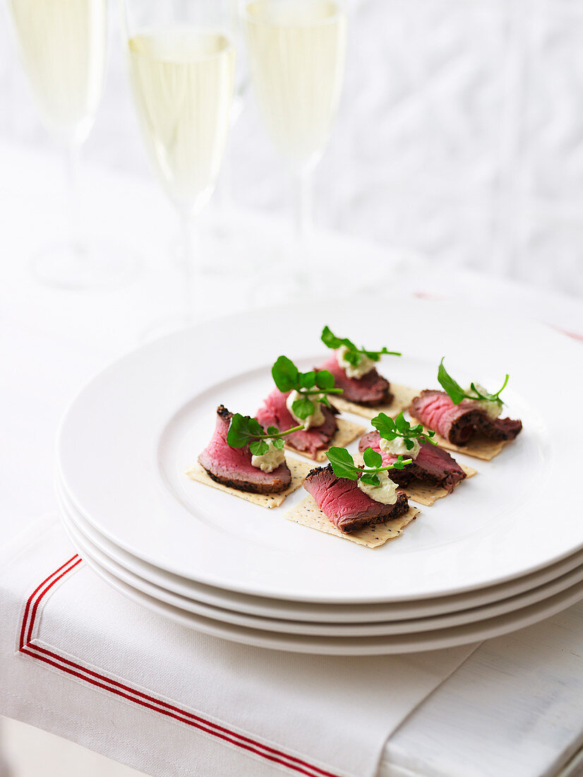 Peppered Beef with Blue Cheese Mousse
