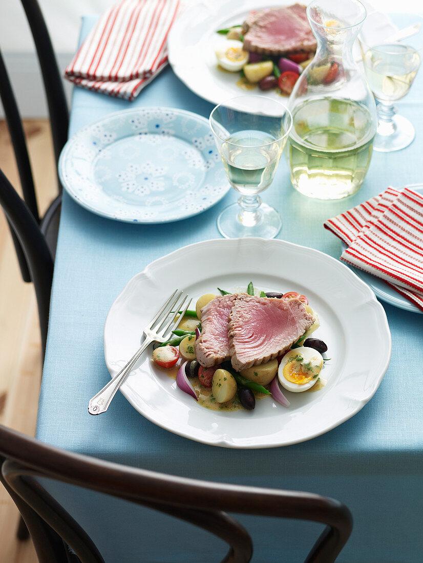 Seared Tuna with Verjuice Dressing